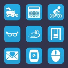 Set of 9 filled image icons