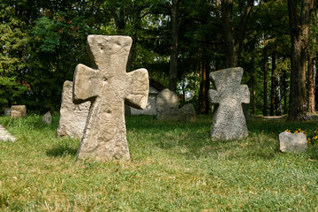 Ancient stone crosses