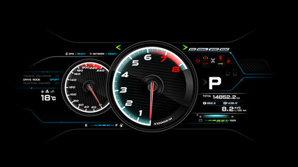 Car dash board vector illustration eps 10 004