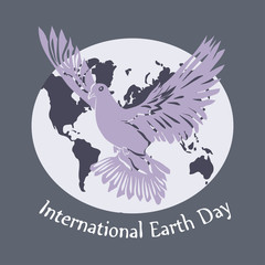 International day of Peace illustration. Dove of Peace