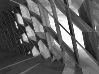 Empty dark abstract concrete room interior architecture