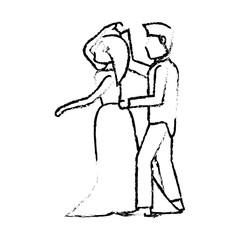 couple wedding love image sketch vector iillustration eps 10