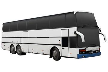 Modern white tour bus.