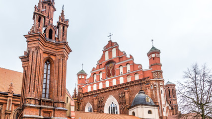 St Anne and the Bernadine church Ensemble in the old town of Vilnius in Lithuania Baltic States Europe Wall mural