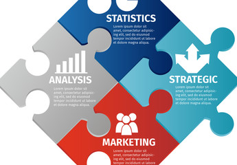 Puzzle Pieces Business Infographic