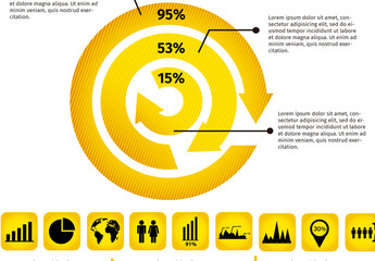 Multipurpose Circular Arrows Infographic