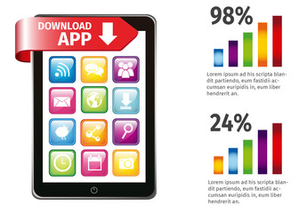 Tablet and App Technology Infographic
