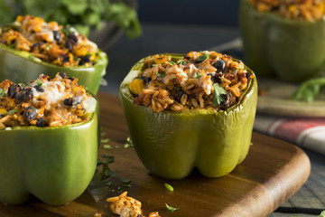 Homemade Meat and Rice Stuffed Bell Peppers