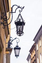 Old street lantern, Warsaw, Poland