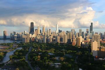 Chicago Skyline in summer