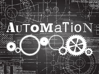 Automation Blackboard Tech Drawing