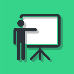 Training, presentation icon, conceptual symbol. Vector illustration.
