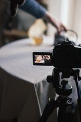 appareil photo en action backstage video