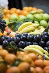 fruit, grapes on the counter sales, sales to retail market