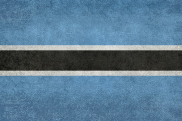 Flag of Botswana with Vintage textured treatment
