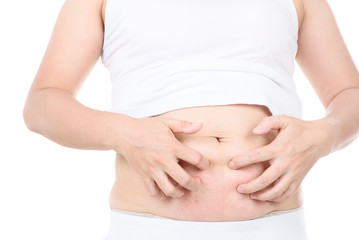 itch and pain of pregnant belly