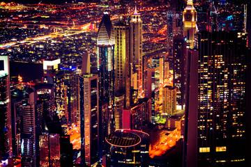 Downtown Dubai At Night