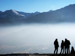 turyści w górach w Zakopanem