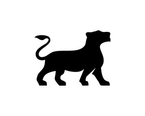 Lioness silhouette vector
