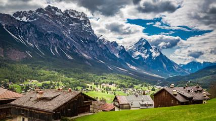 Wonderful view to Cortina di Ampezzo, Dolomites, Italy