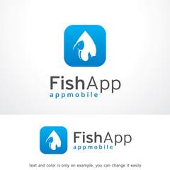 Fish App Logo Template Design Vector, Emblem, Design Concept, Creative Symbol, Icon