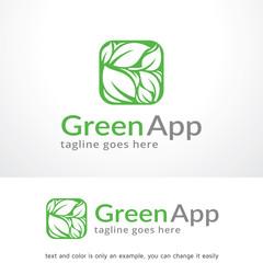 Green App Logo Template Design Vector, Emblem, Design Concept, Creative Symbol, Icon