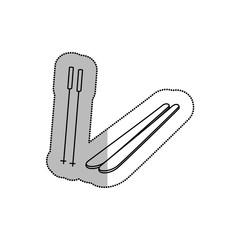 ski snow equipment icon vector illustration design