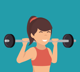woman athlete avatar icon vector illustration design