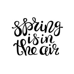 Spring is in the air - lettering design