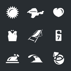 Vector Set of Resort Icons.
