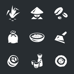 Vector Set of Rice Icons.