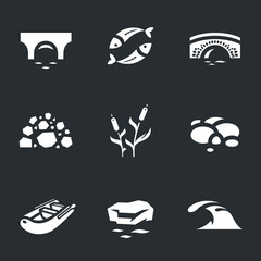 Vector Set of River Icons.