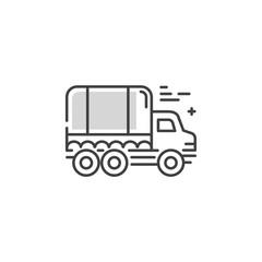 Line truck logo