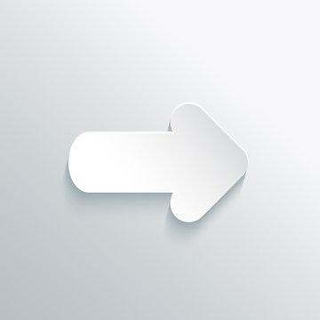 White Paper Cut Arrow