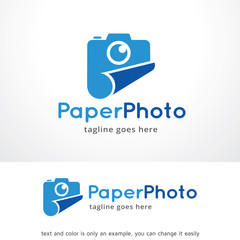 Paper Photo Logo Template Design Vector, Emblem, Design Concept, Creative Symbol, Icon