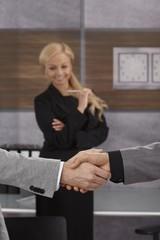 Close-up handshake
