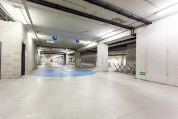 an underground garage