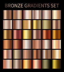 Bronze gold gradients
