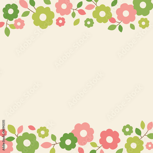 Simple Flower Vector Border Frame For Card Design