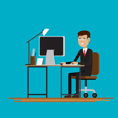 Business People in room,Vector illustration