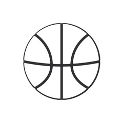 Vector illustration. Hand drawn doodle of basketball ball. Sports equipment. Cartoon sketch. Decoration for greeting cards, posters, emblems, wallpapers