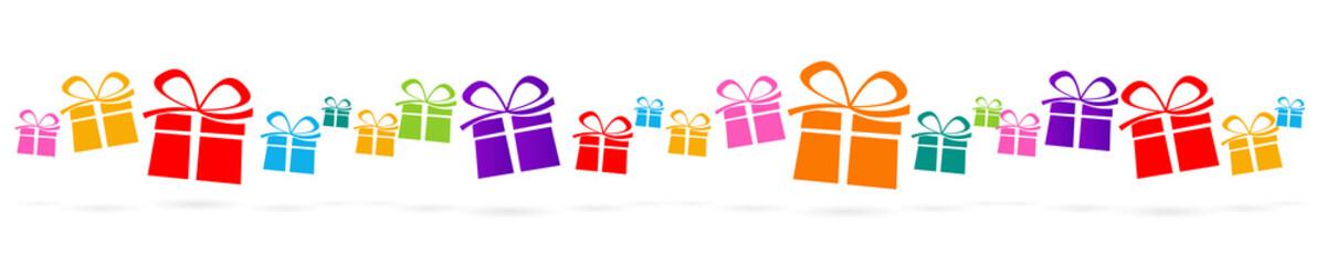 Frise cadeaux