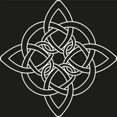 Monochrome Celtic pattern. Pattern for Scandinavian or Celtic ornament. Vector illustration