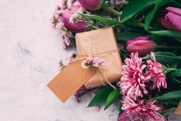 Beautiful Mother's Day flowers  with gift box