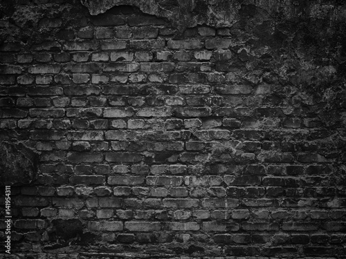 texture of a black brick wall background gloomy background for design photo libre de droits. Black Bedroom Furniture Sets. Home Design Ideas