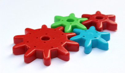 Colorful Plastic Cogs / Gears