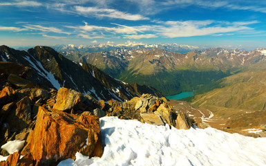 Ötztal Alps from Similaun Peak, Austria