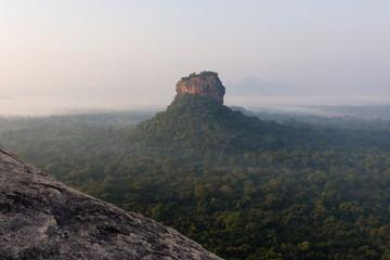 Sunrise over the Lion rock, Sigiriya, Sri Lanka