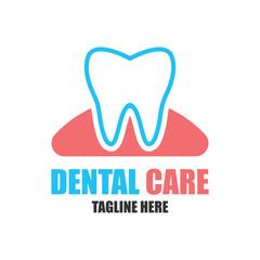 teeth for dentistry / stomatologist / dental clinic logo. flat vector illustration