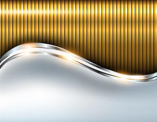 Elegant metallic background, silver gold
